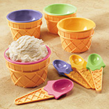 Ice Cream Cups & Spoons Set