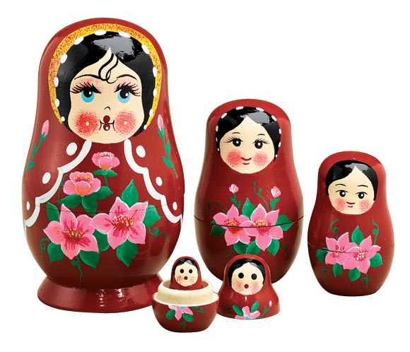 traditional russian nesting doll set5 17874015412 ebay