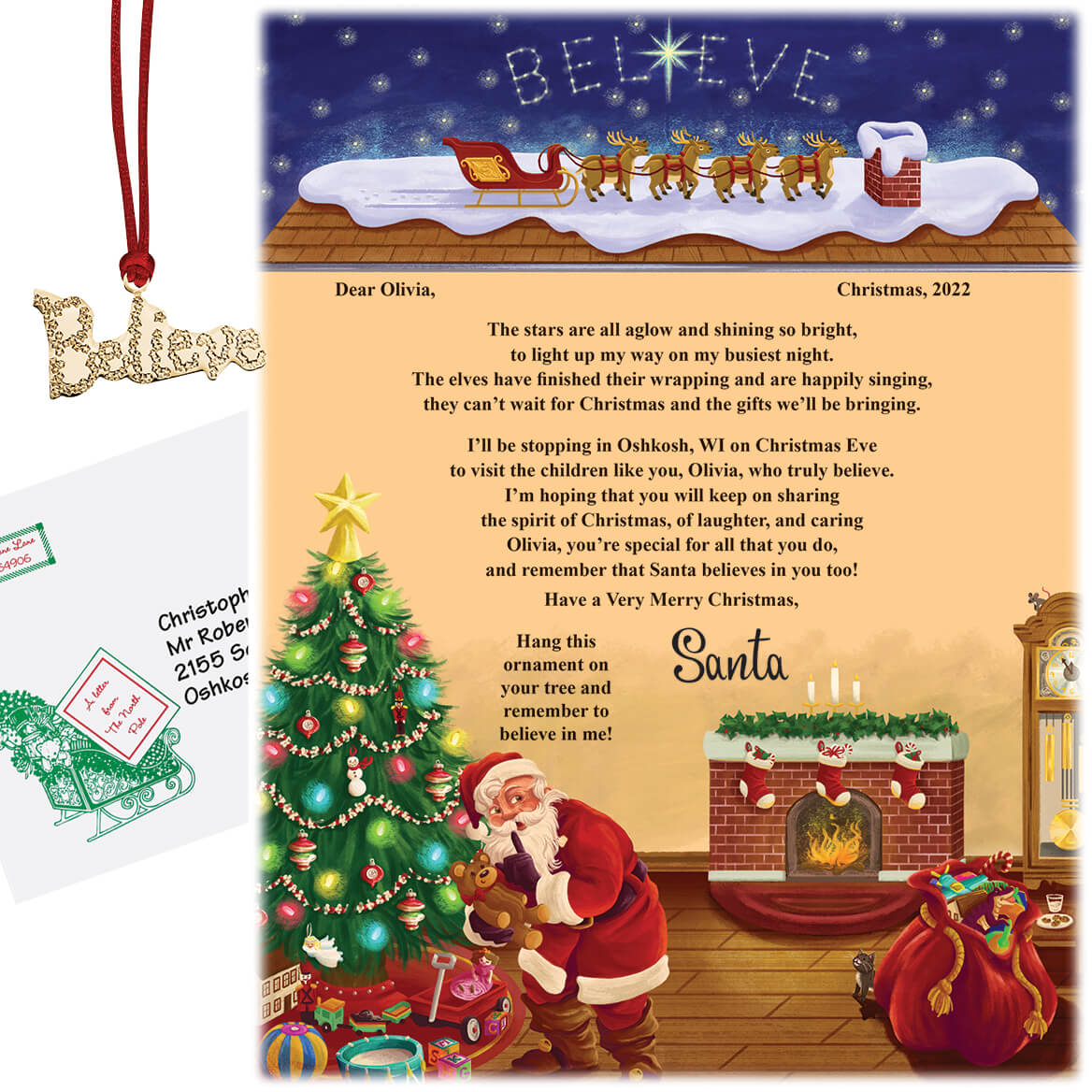 Personalized Letter From Santa and Ornament - Miles Kimball