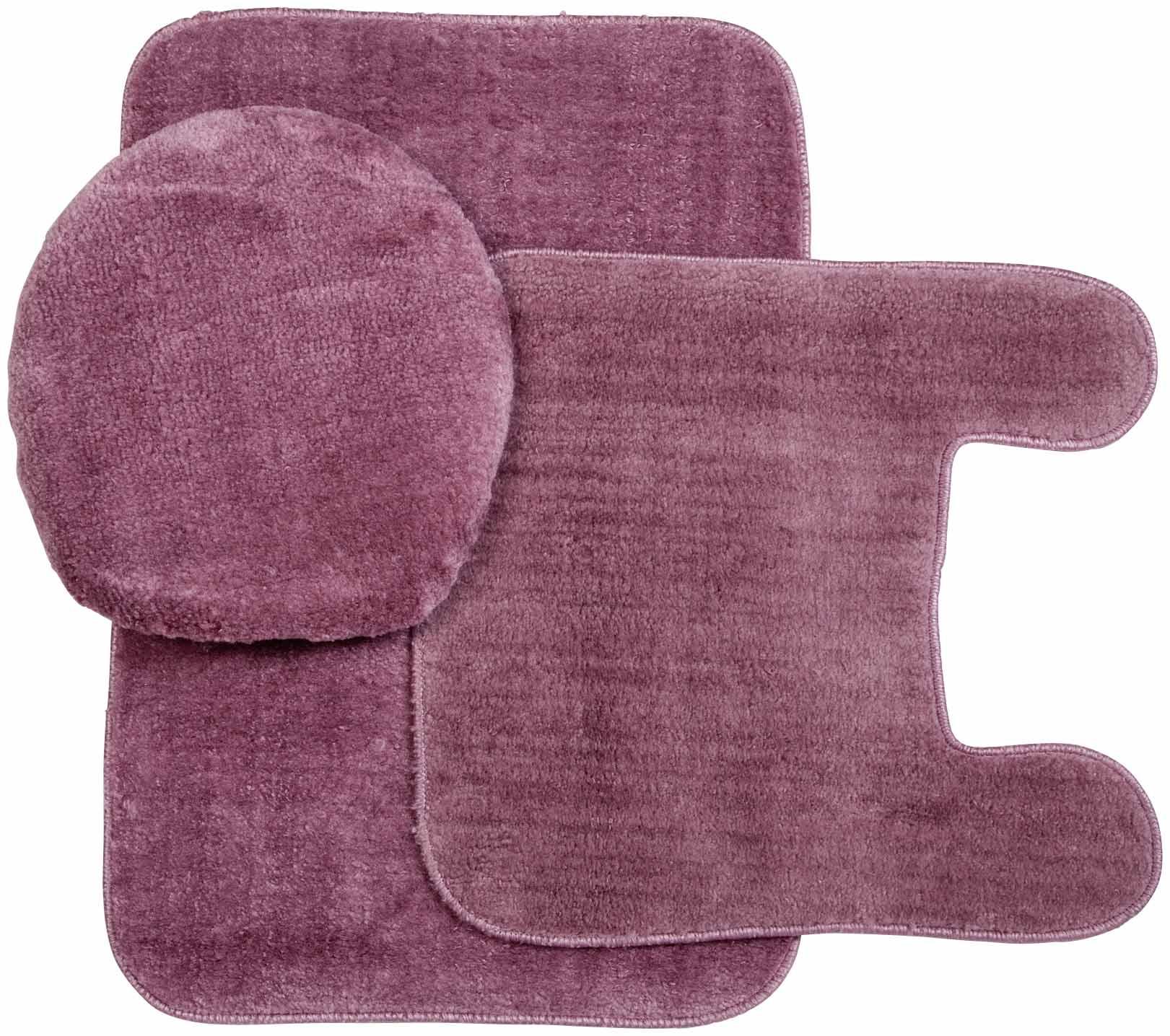 kimball plush rug and lid 3 pc bath set