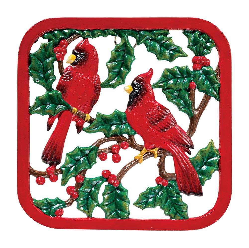 Miles Kimball Winter Cardinals Cast Iron Trivet at Sears.com