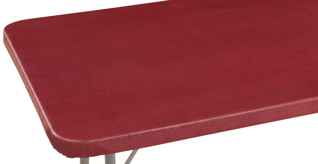 Classic Weave Vinyl Elasticized Banquet Table Cover