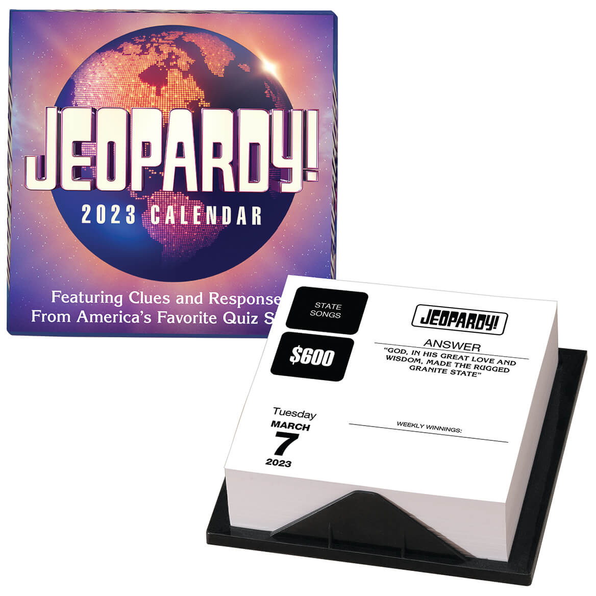 Clever Jeopardy Categories: Jeopardy! 2019 Day-to-Day Calendar Sony Andrews McMeel
