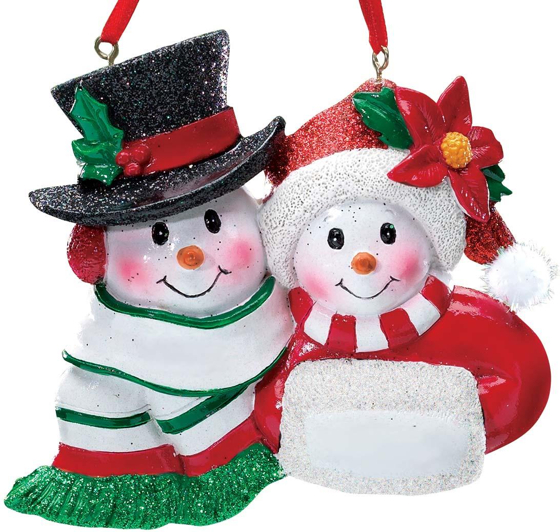 Old Fashioned Snow Couple Ornament 840853128861 | eBay