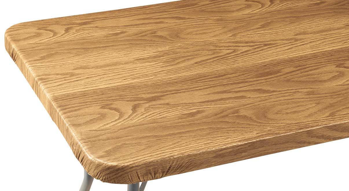 Wood Grain Vinyl Elasticized Banquet Table Cover 60 Quot X