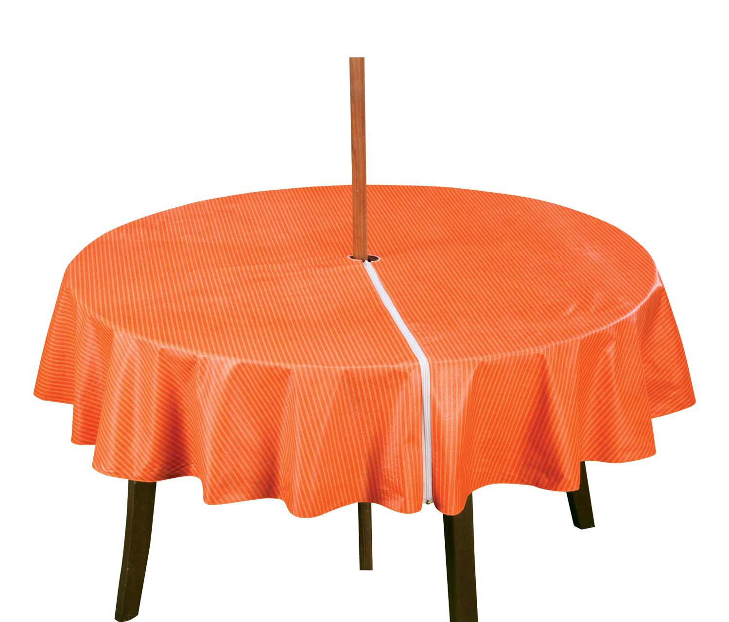 Patio Table Cover With Zipper Stripe Design by Miles Kimball
