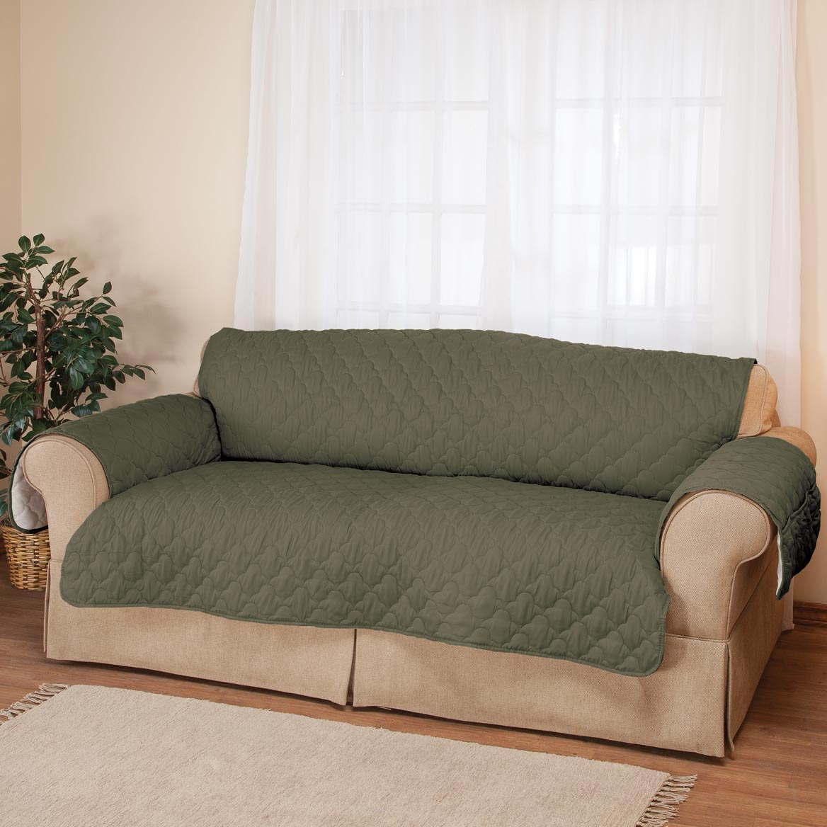 Waterproof Quilted Sherpa Sofa Cover by OakRidgeTM