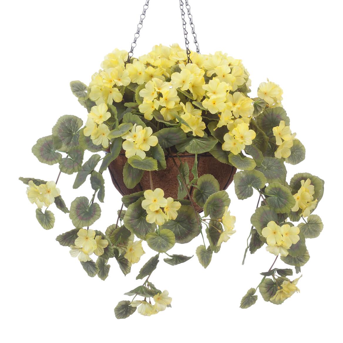 Fully Assembled Geranium Hanging Basket By Oakridgetm Yellow