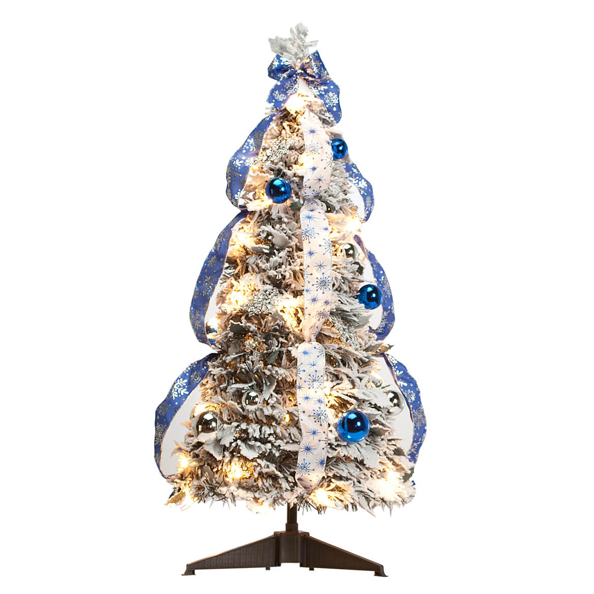 3' Snow Frosted Winter Style Pull-Up Tree by Holiday ...