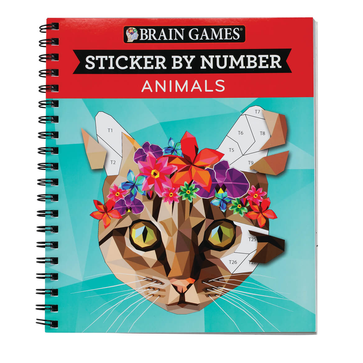 Details About Brain Games Sticker By Number Animals Book