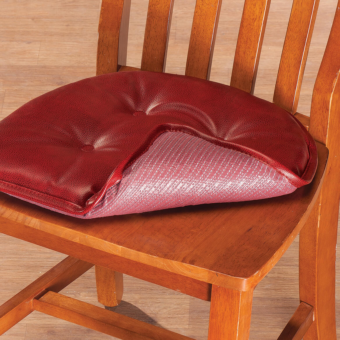 St Germaine Faux Leather Chair Pad With Gripper Ebay