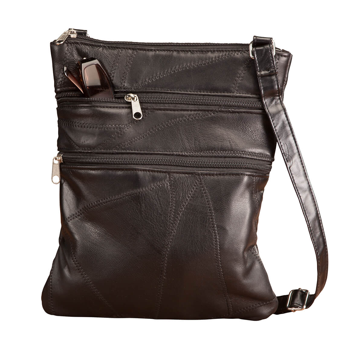 3e156eace864 RFID Lambskin Patch Leather Crossbody Bag
