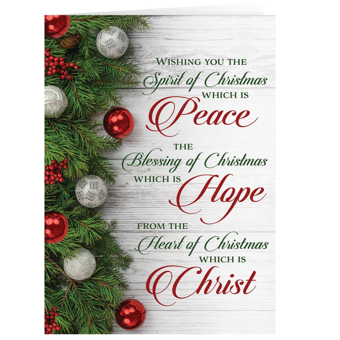 peace hope christ christmas card set of 20  ebay
