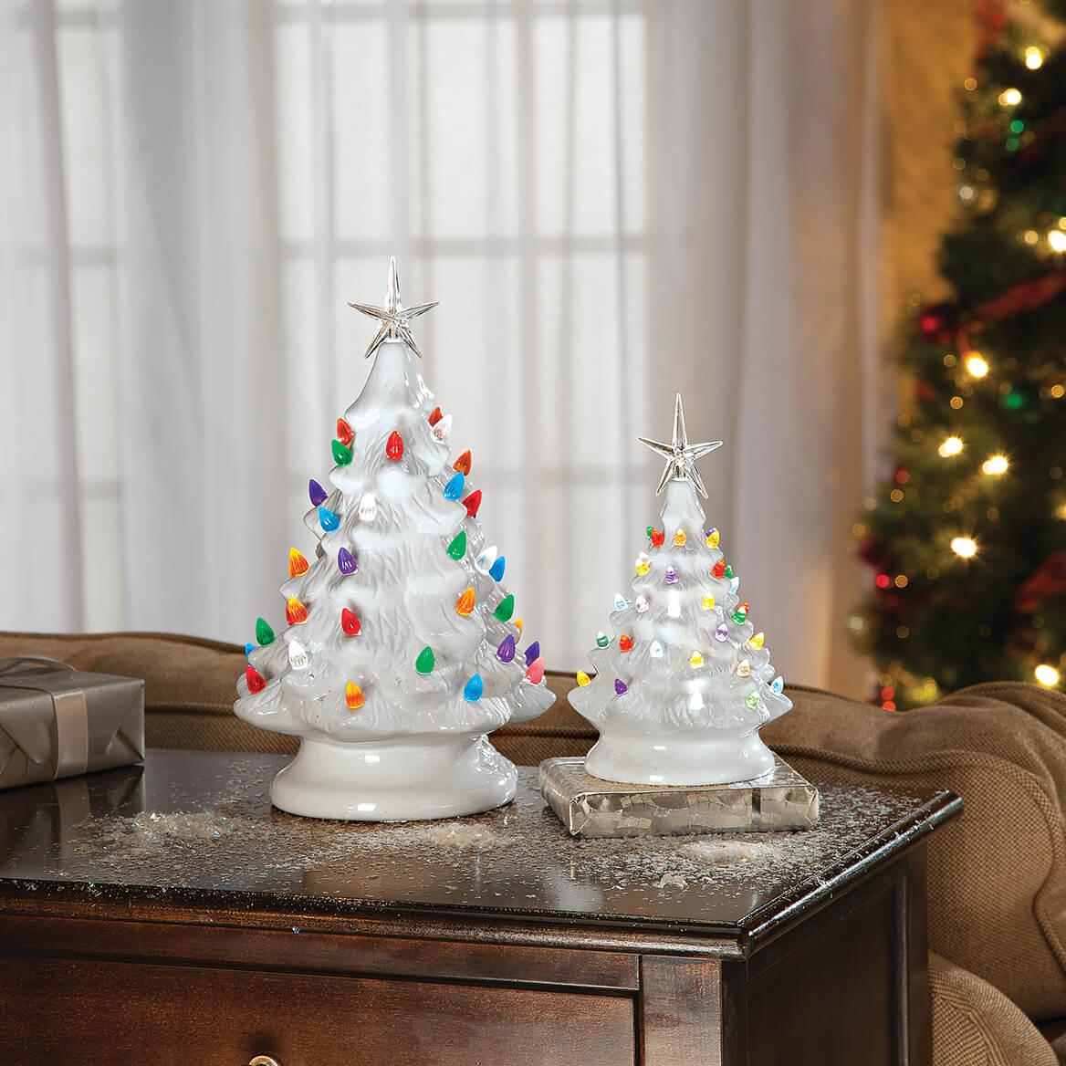 HOLIDAY PEAK Battery-Operated Vintage-Style Ceramic Christmas Tree, Nostalgic | eBay