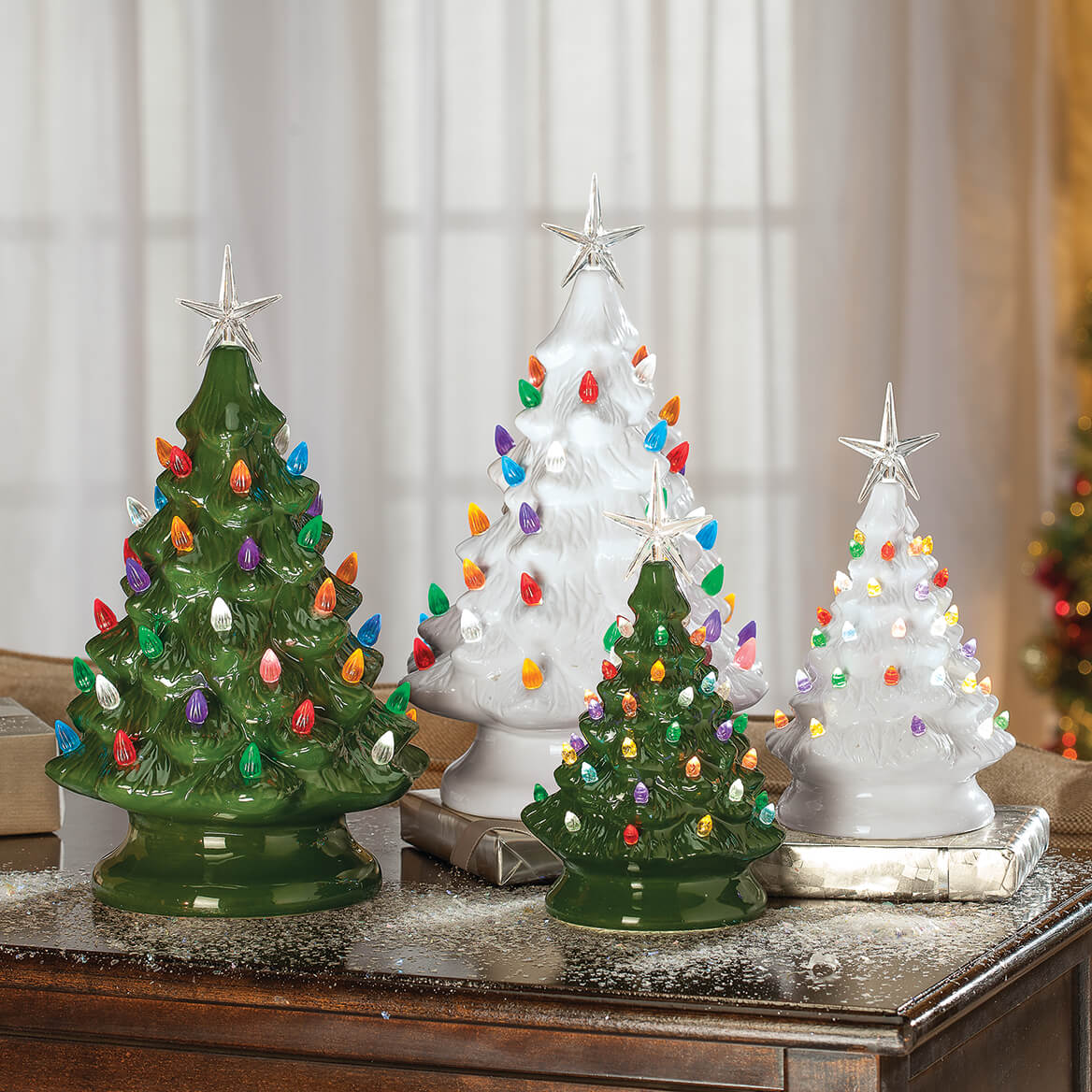 HOLIDAY PEAK Battery-Operated Vintage-Style Ceramic ...