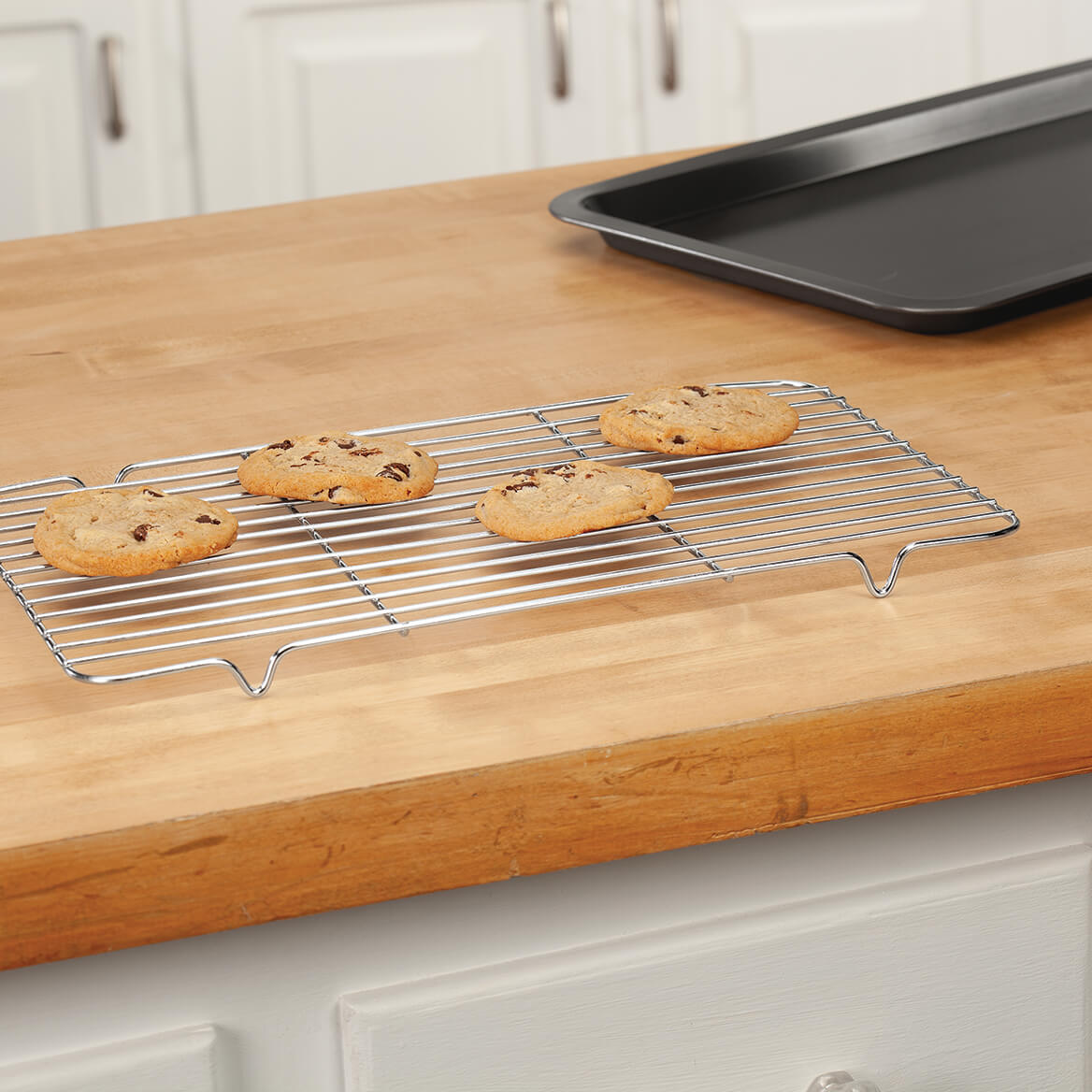 Smallspace Living: All In One Non-Stick Baking Sheet And Stainless Steel Rack